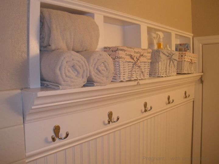 In-the-wall Shelves for a Tiny Half Bath | Hometalk