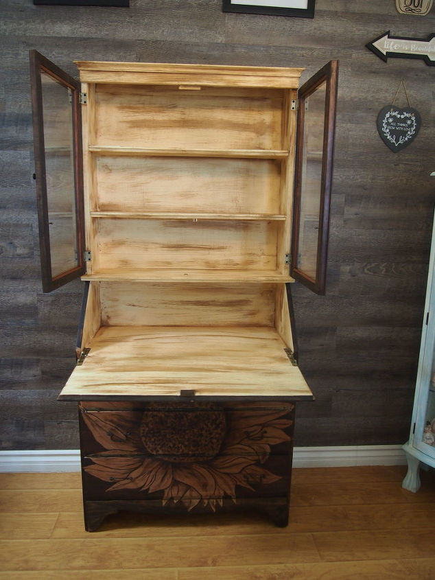 fancy to fantastic antique secretary makeover