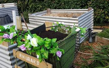 second supermarket trolley raised planter veg bed