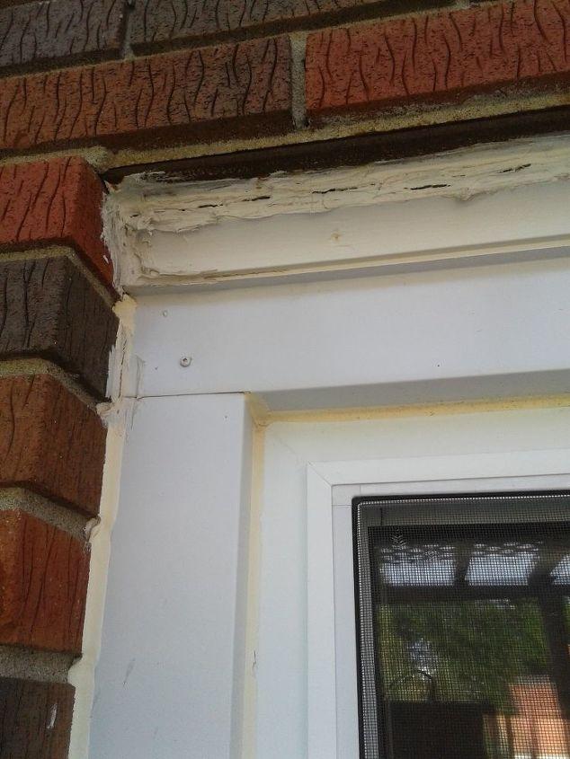 How to remove old caulking on window trim and brick - How to caulk exterior window trim ...
