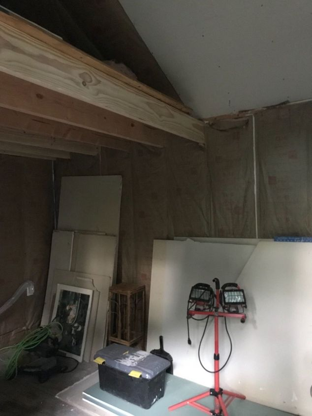 q inexpensive ways to get a wood look over my drywalled shed ceili