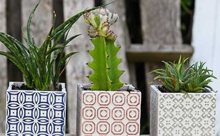 easy gorgeous moroccan tile planters