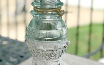 vintage outdoor solar light makeover