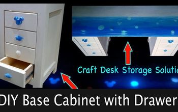 diy base cabinets with drawers for craft desk, DIY Base Cabinet with Drawers