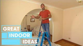 q how do i undo interior sheetrock arches