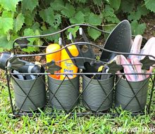 how to repurpose a metal magazine basket