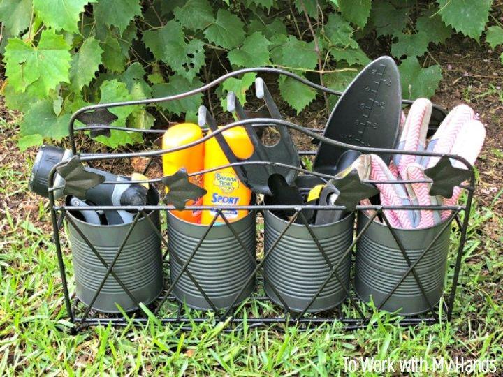 how to repurpose a metal magazine basket