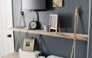 DIY Rope and Wood  Nautical Shelf