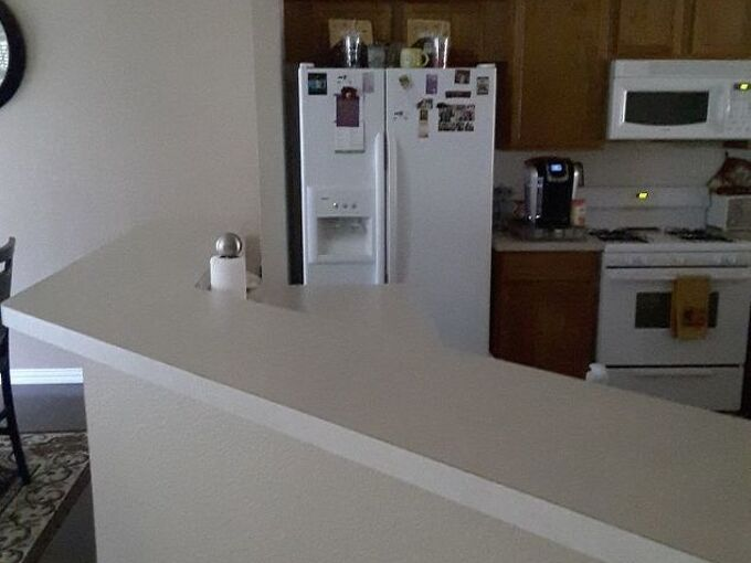 q what s the best product to use to update kitchen counters cabinets