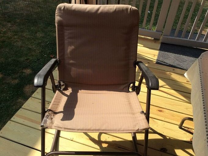 q is there a way to replace the material on a metal patio rocking chair