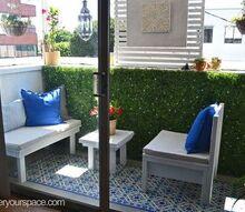 diy small rental apartment balcony makeover