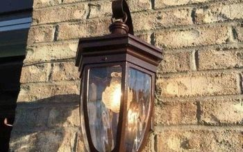 outdoor light fixtures transformed for under 3