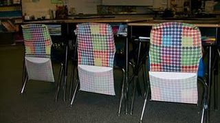 , I know that most teachers like these for the kids seats so maybe same idea for special chairs sitting around