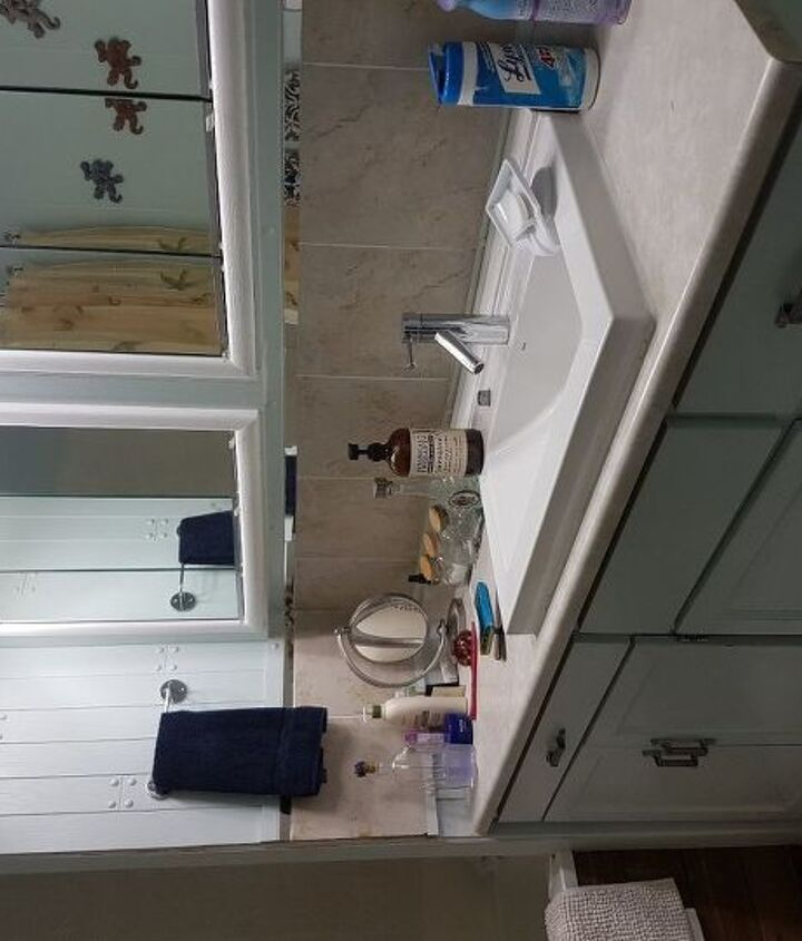 q i need ideas on a quick inexpensive reno for this bathroom