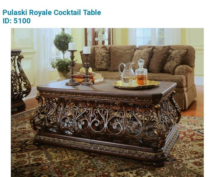 q look for help to find the cocktail table by pulaski style is royale 5