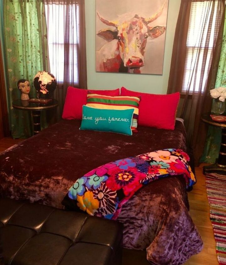 bright bedroom makeover