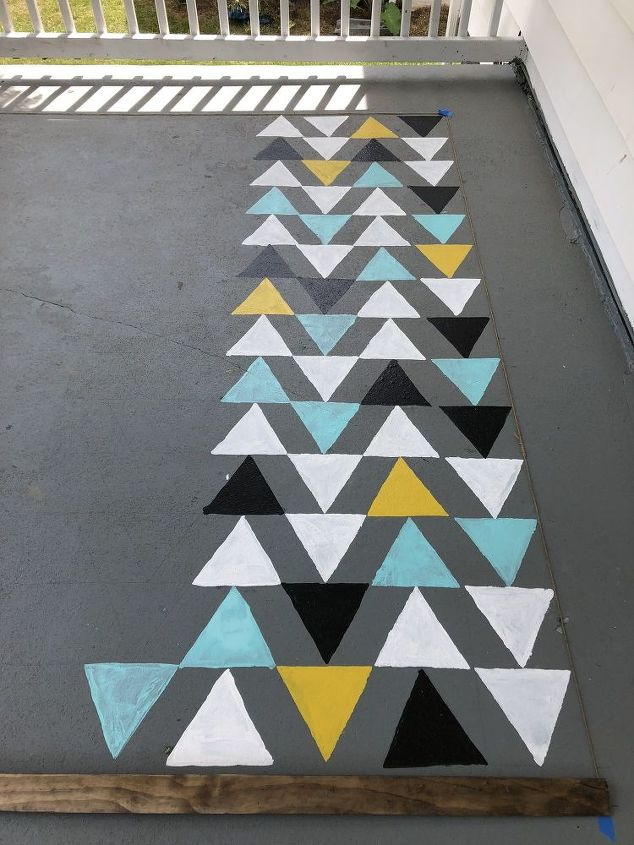 how to stencil an outdoor rug