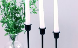 modern farmhouse candlestick makeover