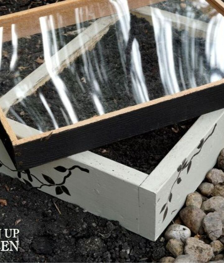 painted seed starter planter box