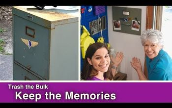 upcycle part of file cabinet into a memory