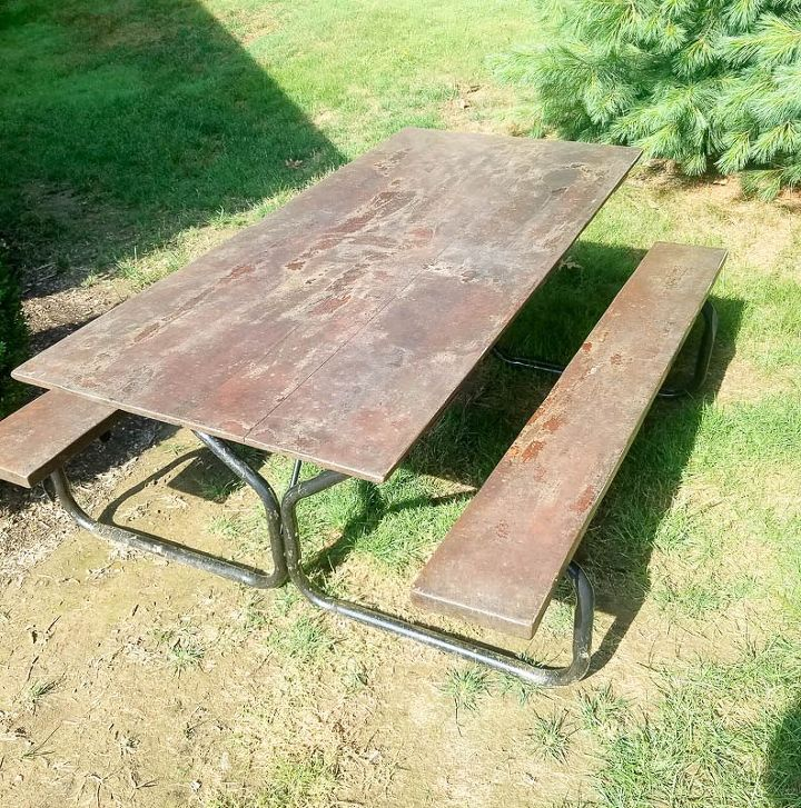refinish your cedar picnic table