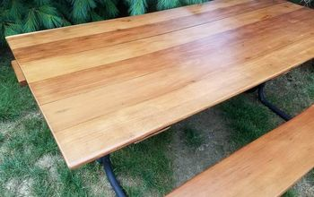 refinish your cedar picnic table