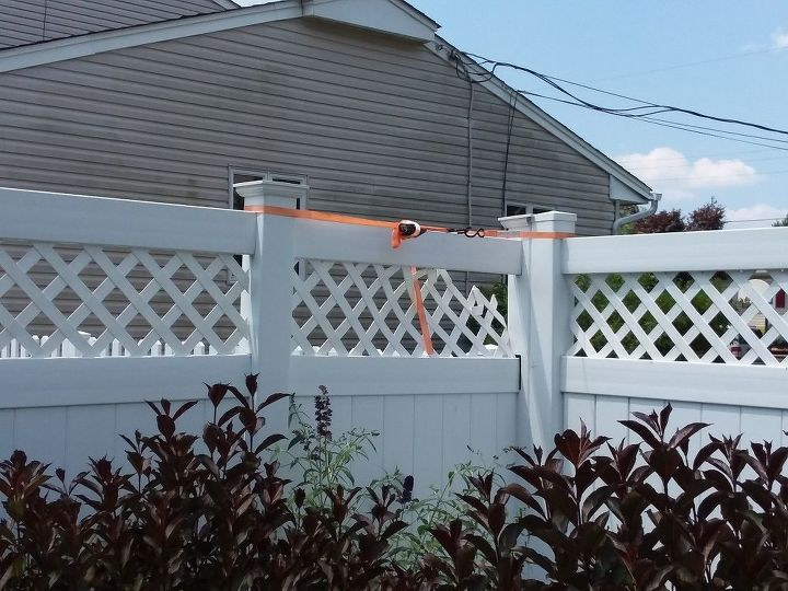 q need advice to fix 6ft vinyl fence