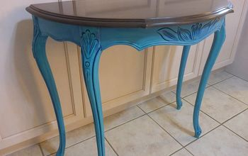 colour washed entryway table