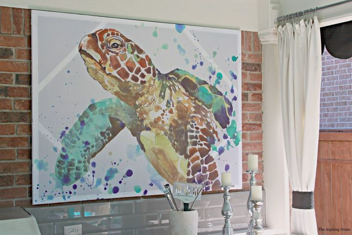 How to Turn a Shower Curtain Into Wall Art!   Hometalk