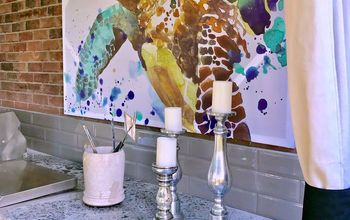 How to Turn a Shower Curtain Into Wall Art!