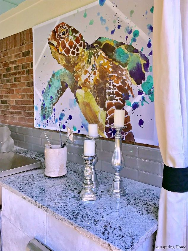How to Turn a Shower Curtain Into Wall Art! | Hometalk