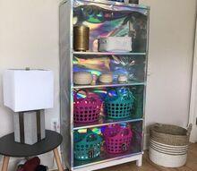 holographic bookshelf on a budget teen tween decor