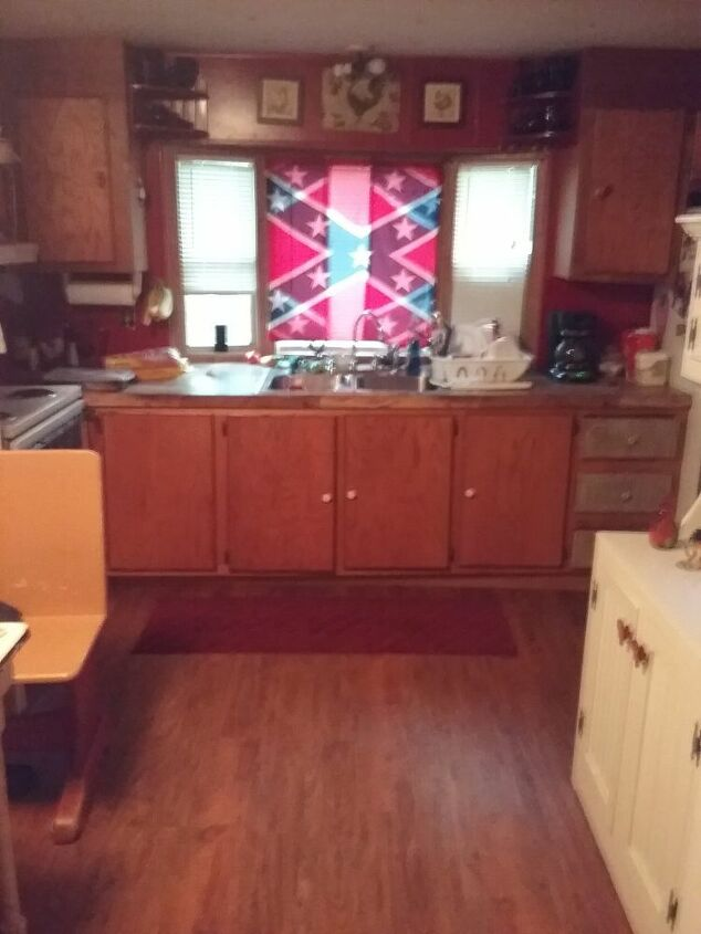 q i would you remodel this kitchen its a moble home 14 ft wide