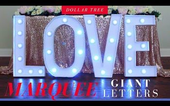 giant marquee love letters