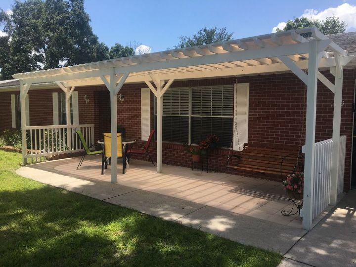front porch pergola - Front Porch Pergola Hometalk