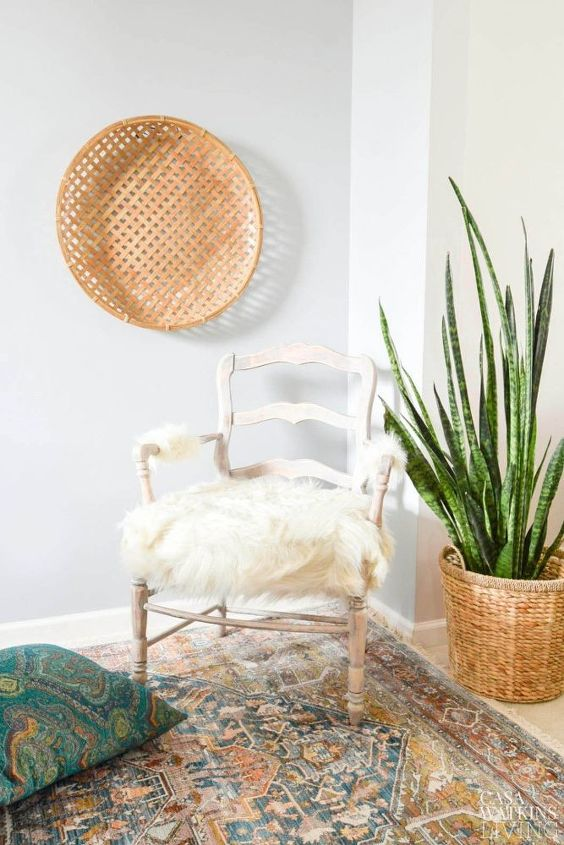 s 15 diy boho looks for less, DIY Boho Chic Faux Fur Chair Makeover