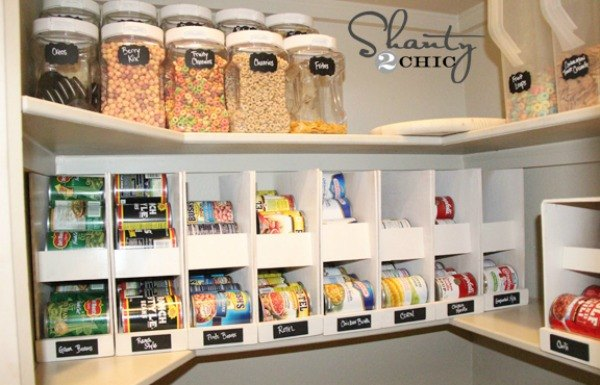 s 23 insanely clever ways to eliminate clutter, Make Canned Food Organizers