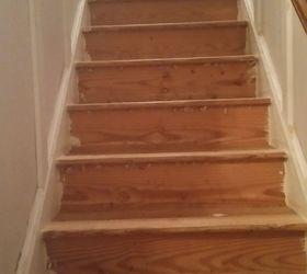 Q Staining Yellow Pine Stairs