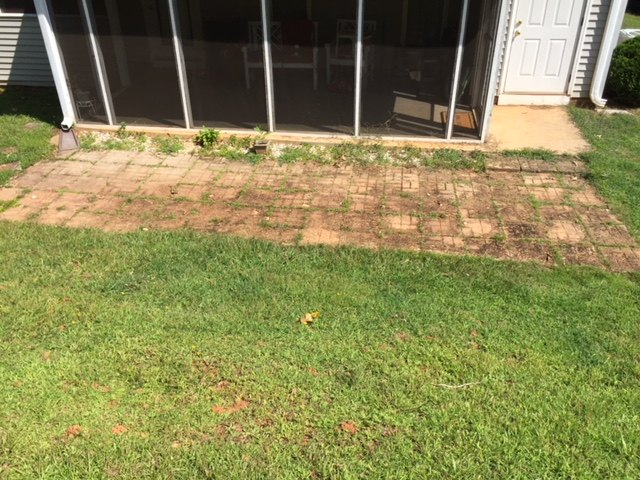 q what can i do about sunken pavers that flood when it rains