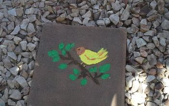 garden stepping stones that glow, Finished stone of Bird