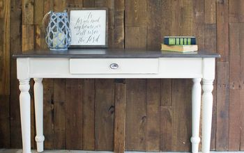 DIY Faux Barn Wood Finish