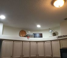 q i have a 90s drop down soffits in my kitchen how do i update it