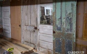 installing a vintage door wall