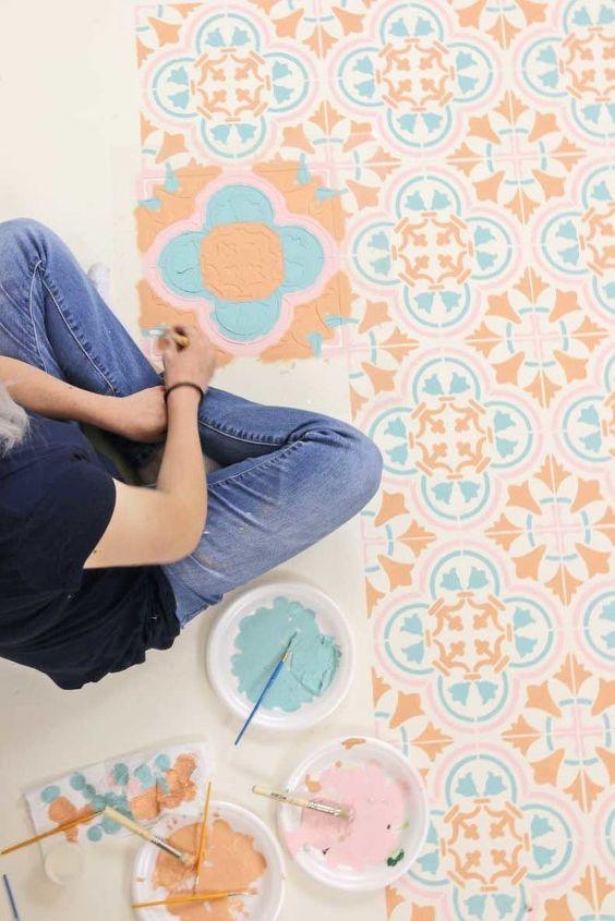 diy perfect pastel tile floor