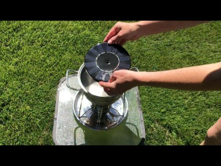 fondue pot to table top solar fountain fire pit