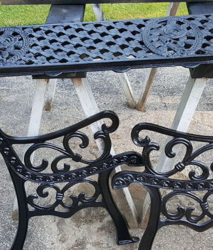 cast iron bench restoration before after