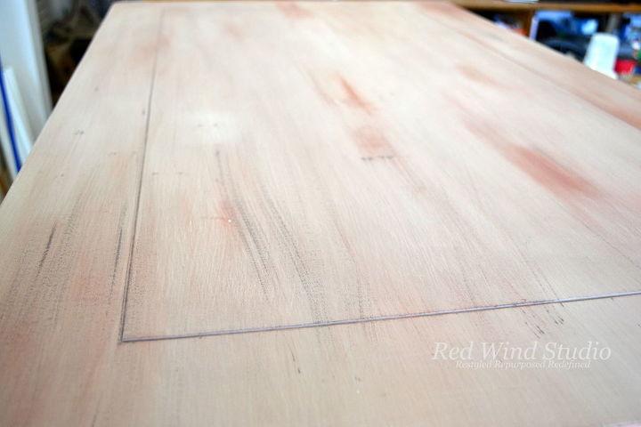 faux wood white wash