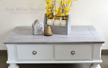 faux wood white wash