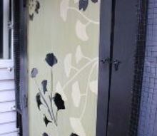 upcycled art greenhouse door