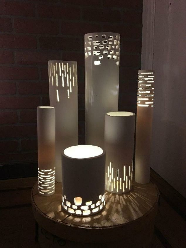 s the 15 coolest ways to reuse pipes in your home decor, Turn PVC pipes into glowing lights
